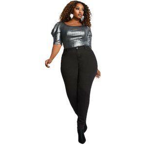 Ashley Stewart Classic Women XL Black Comfy Stretc